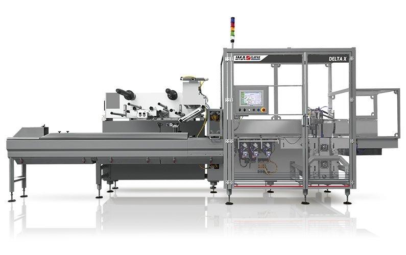 Ima Ilapak Horizontal packaging solution flow pack machine for high speed hermetic sealing jaws